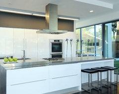 "48"" Plane Island Designer Stainless Steel Rangehood modern-kitchen-hoods-and-vents"