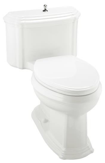 KOHLER K-3506-7 Portrait Comfort Height Elongated Toilet with Lift Knob and Glen traditional-toilets