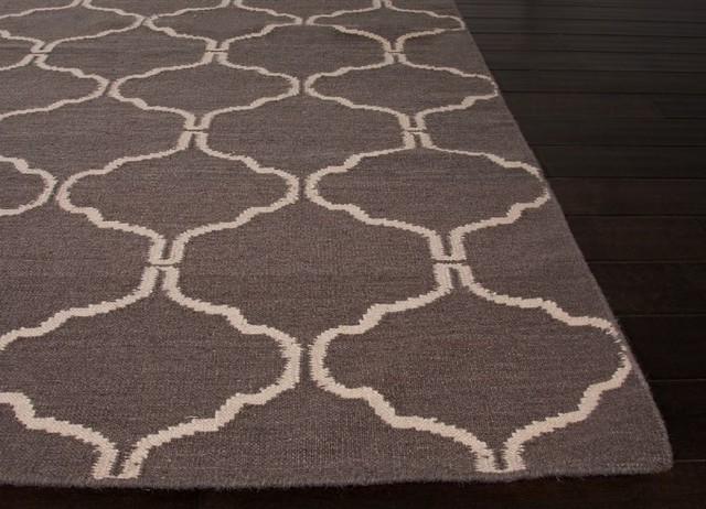Contemporary maroc hallway runner 2 39 6 x8 39 runner liquorice for Contemporary runner rugs for hallway