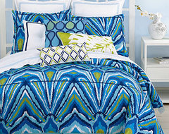 Trina Turk Blue Peacock Comforter and Duvet Cover Set  duvet covers