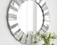 Glamour Round Mirror traditional mirrors