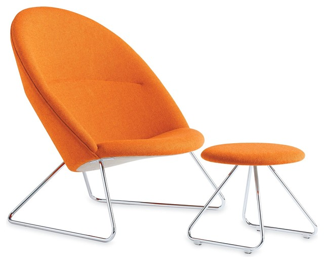 Dennie Chair and Footstool midcentury-chairs