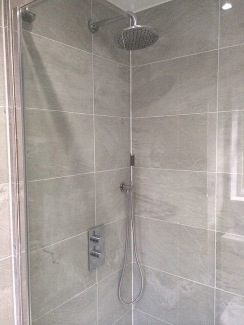 2 part concealed valve shower with bathroom installation for Bathroom design leeds