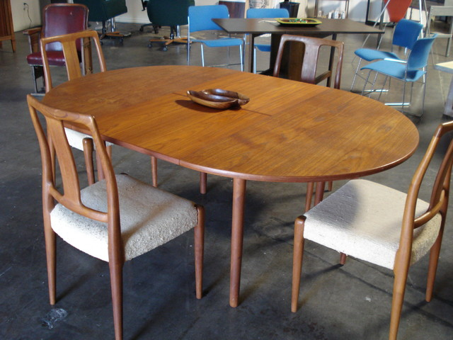 Mid Century Teak Table And Chairs furniture