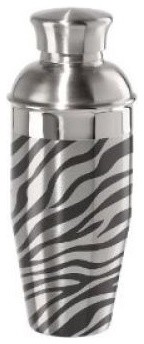 Stainless Steel Zebra Cocktail Shaker modern-cocktail-shakers-and-bar-tool-sets