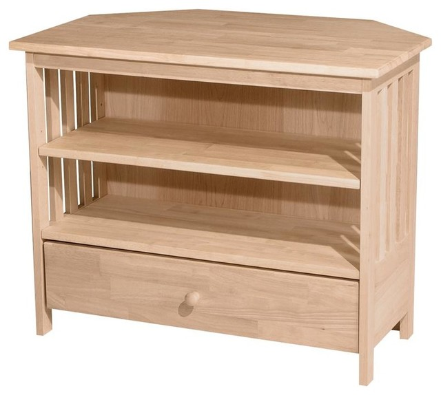 Mission Corner TV Stand - Contemporary - Entertainment Centers And Tv Stands - by ShopLadder