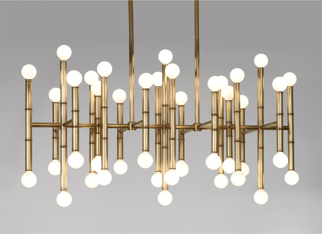 Meurice Rectangle Chandelier Modern Chandeliers By