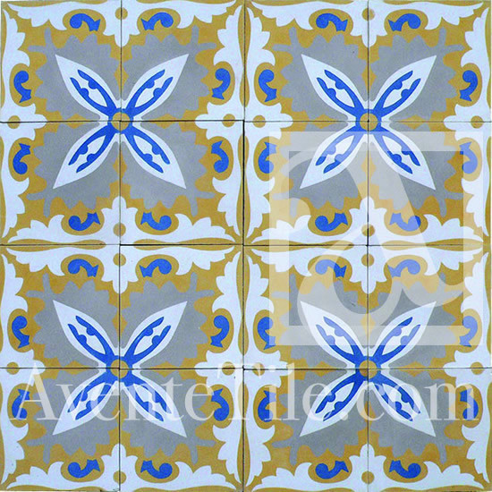 Traditional Mayaguez Cement Tile 8 x 8 traditional floor tiles