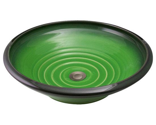 Indikoi Sinks LLC - SOHO: Vessel Mount Sink, Avocado - The Soho style is a low sleek vessel mount sink.