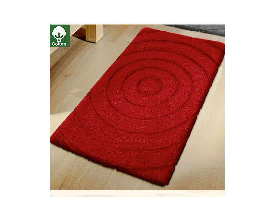 Travel Cotton Bath Rugs from Vita Futura - Our Travel bath rug design is a beautiful, high-quality 100% cotton rug with sculpted design of concentric circles.