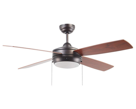 "Ellington Fans - Ellington Fans E-LAV52ESP4LK Espresso Modern Modern Indoor 4 Blade 52"" - Ellington Fans Laval-52 Modern Indoor 4 Blade 52"" Ceiling Fan with Light KitGive a sophisticated presentation to your room with the Laval Ceiling Fan from the Modern Collection by Ellington Fans. The fan is a simple way to create the appearance that you ve been looking for.Current, fresh, and sophisticated. Ellington Fans Modern Collection is that unexpected edge that is sure to stand out in a crowd. Let your confidence radiate, while your style envelops your space.Ellington Fans Laval-52 Features:1 x 100 Watt Down Light Kit IncludedEllington Fans Laval-52 Specifications:CFM: 4591.4Watts: 55.6Height from Blades: 11.5""Height from Ceiling: 14""Light Kit Adaptable: YesLight Kit Included: YesNumber of Blades: 4Blade Span: 52""Control Type: Pull ChainMount Type: Dual-MountMotor Size: 153mm x 15mmEllington Fans Laval-52 Blade Finishes:  Brushed Pewter Finish  - Silver Blades Espresso Finish  - Dark Oak / Mahogany Blades Matte White Finish  - Matte White Blades"