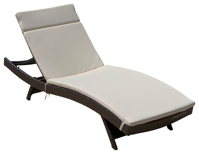 Lakeport Outdoor Adjustable Chaise Lounge Chair Contemporary Outdoor Chai