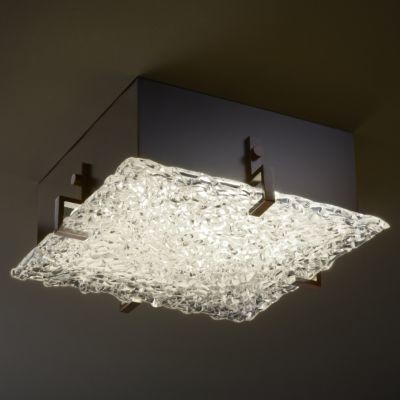 Veneto Luce Lace Glass Clips Flushmount by Justice Design Group