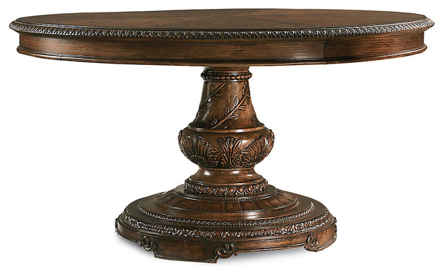 Pemberleigh Round Table Beautiful Brandy Traditional