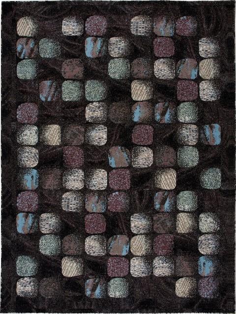 "Contemporary Modesto 7'10""x10'6"" Rectangle Charcoal Area Rug contemporary-rugs"