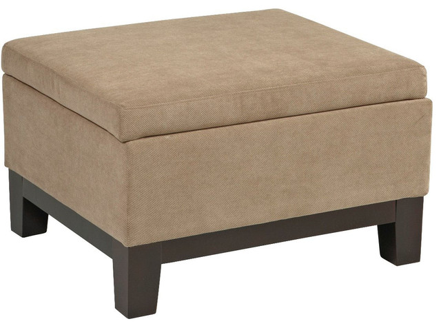 Regent Ottoman in Easy Brownstone modern-footstools-and-ottomans