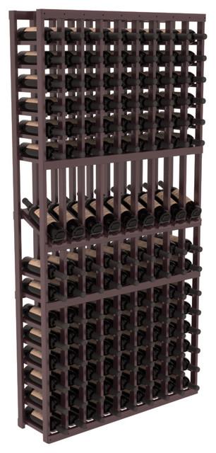 9 Column Display Row Wine Cellar Kit in Premium Redwood, Burgundy + Satin Finish contemporary-wine-racks