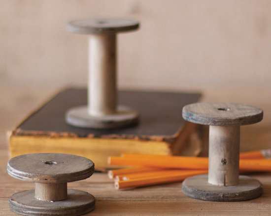 Wooden Spools - These unique, hand-crafted accessories are imported from small cottage industries in Colombia, Honduras, Haiti, Morocco, and more.