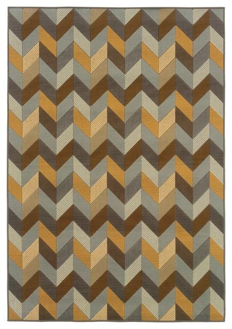 Sphinx by Oriental Weavers Bali 4902X Outdoor Rug, Gray contemporary-outdoor-rugs