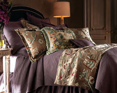 Traditions by Pamela Kline Renaissance Bed Linens Standard Sham traditional-shams