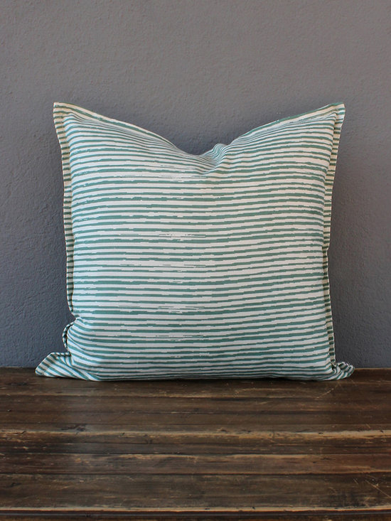 pencil lines pillow – celadon - view this item on our website for more information + purchasing availability: http://redinfred.com/shop/category/gift/sale/pencil-lines-pillow-celadon/