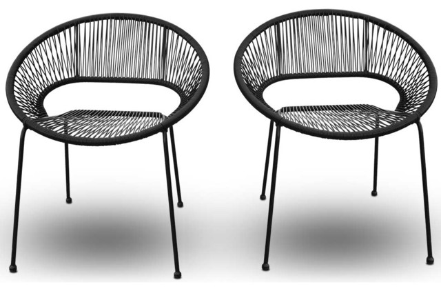 acapulco outdoor patio dining chair jet back modern outdoor chaise lounges by. Black Bedroom Furniture Sets. Home Design Ideas