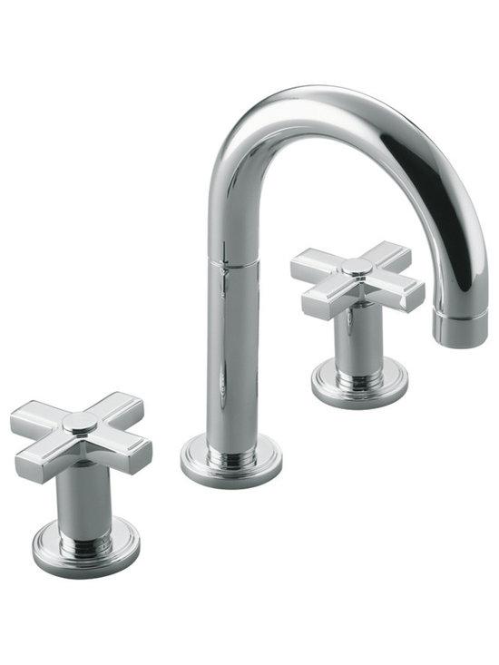 Vir Stil Minimal by Laura Kirar Basin Faucet Set, Cross Handles -