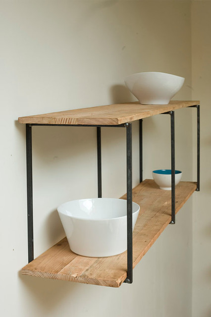 Reclaimed recycled and beautiful floating shelves by for Contemporary display shelves