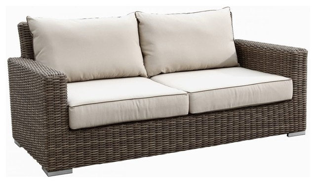 3 Piece Coronado Wicker Outdoor Sofa Set by Sunset West modern-outdoor-sofas