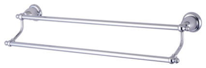 BA797318C English Vintage 18in. Dual Towel Bar, Chrome modern-towel-bars-and-hooks