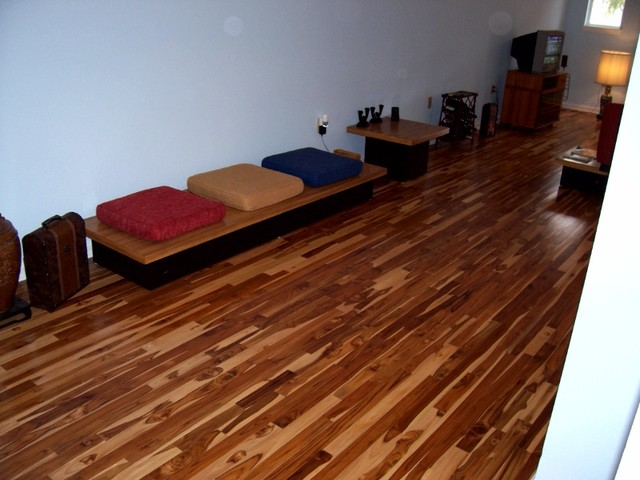 Teak floors eclectic hardwood flooring houston by Wood flooring houston