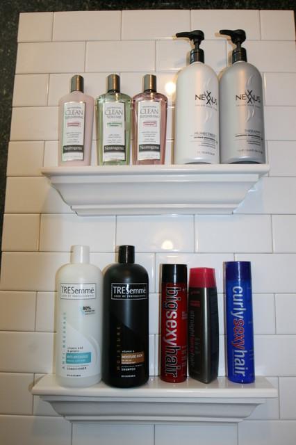 Bathroom Tile Storage Traditional Shower Caddies Dc