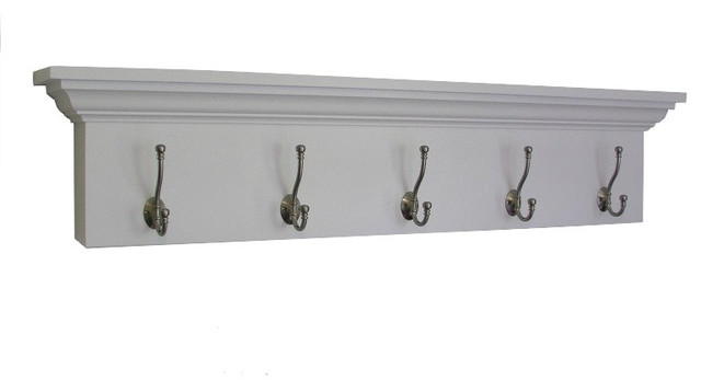ashton entryway coatrack shelf solid white traditional. Black Bedroom Furniture Sets. Home Design Ideas