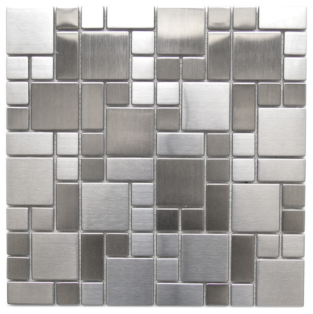 Metal Mosaic Tile For Bathroom Backsplahes contemporary-mosaic-tile