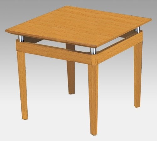 Mayline Napoli End Table - Golden Cherry contemporary-side-tables-and-end-tables