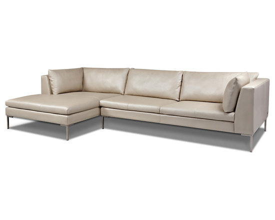 Inspiration Sectional Sofa by American Leather -