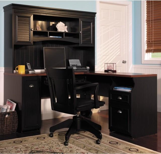 bush fairview computer desk and optional hutch multicolor