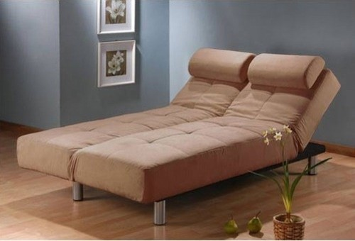 Casual Microsuede Convertible Sleeper Sofa modern-futons