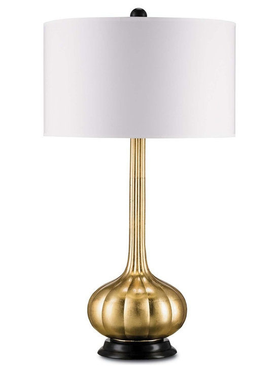 "Currey & Company Ballet Table Lamp in Contemporary Gold Leaf - The Currey & Company Ballet Table Lamp Features a Contemporary Gold Leaf Finish. Product Dimensions: 31"" High."