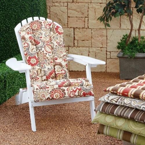Atrium Adirondack Chair Cushion Zoe Stone - contemporary - outdoor