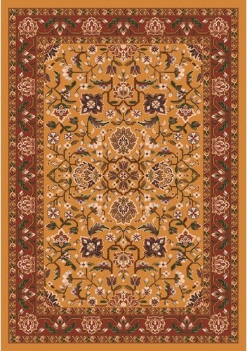 Pastiche Abadan Spice Gold Rug traditional-rugs