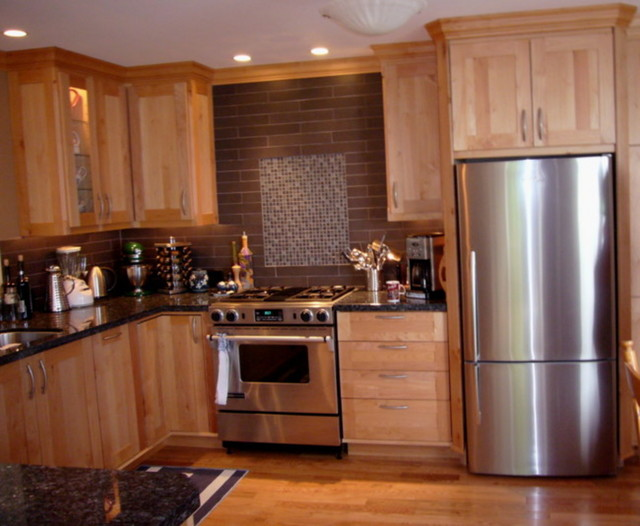 Kitchen cabinets in western maple by tolka millwork Western kitchen cabinets
