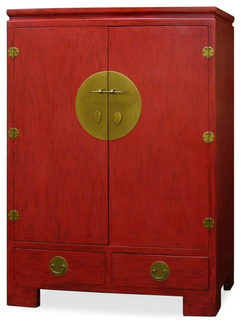 Elmwood Ming Style TV Armoire asian-furniture