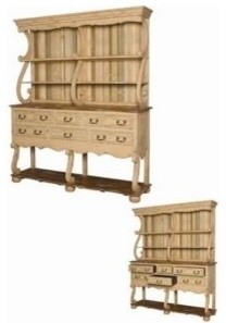 Italian Hutch and Buffet; Manufactured by Guild Master traditional-side-tables-and-end-tables