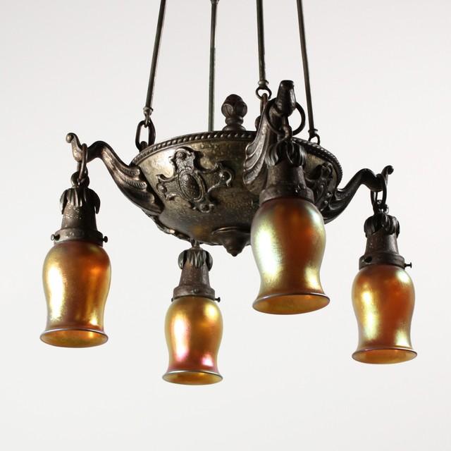 Antique Arts & Crafts Lighting Craftsman Chandeliers