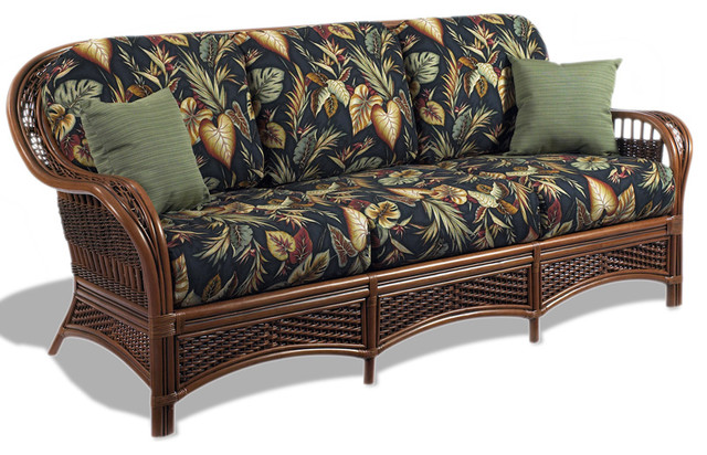 Rattan Sofa - Tigre Bay - Tropical - Furniture - by Wicker Paradise
