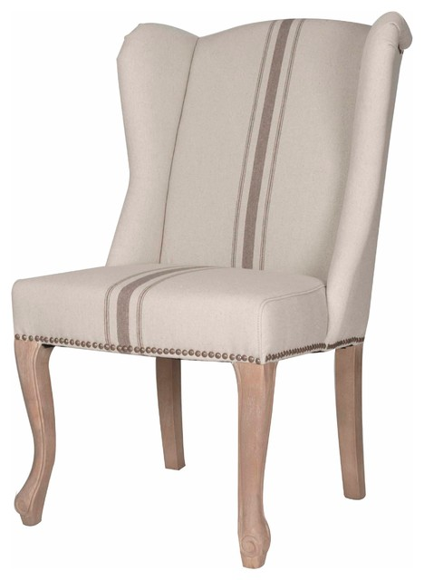 TMD Linen Striped Dining Chair