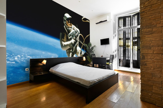 Astronaut on mission wall mural modern wallpaper for Astronaut wall mural