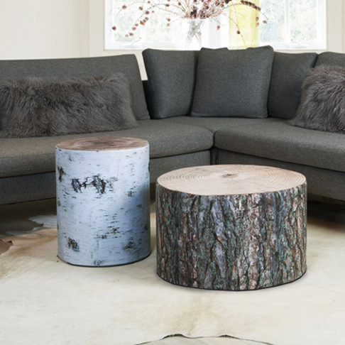 Krone Hanssen Wood Stubbe Poufs eclectic-footstools-and-ottomans