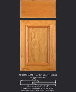 Cherry Cabinet Door Style With Molding Transitional